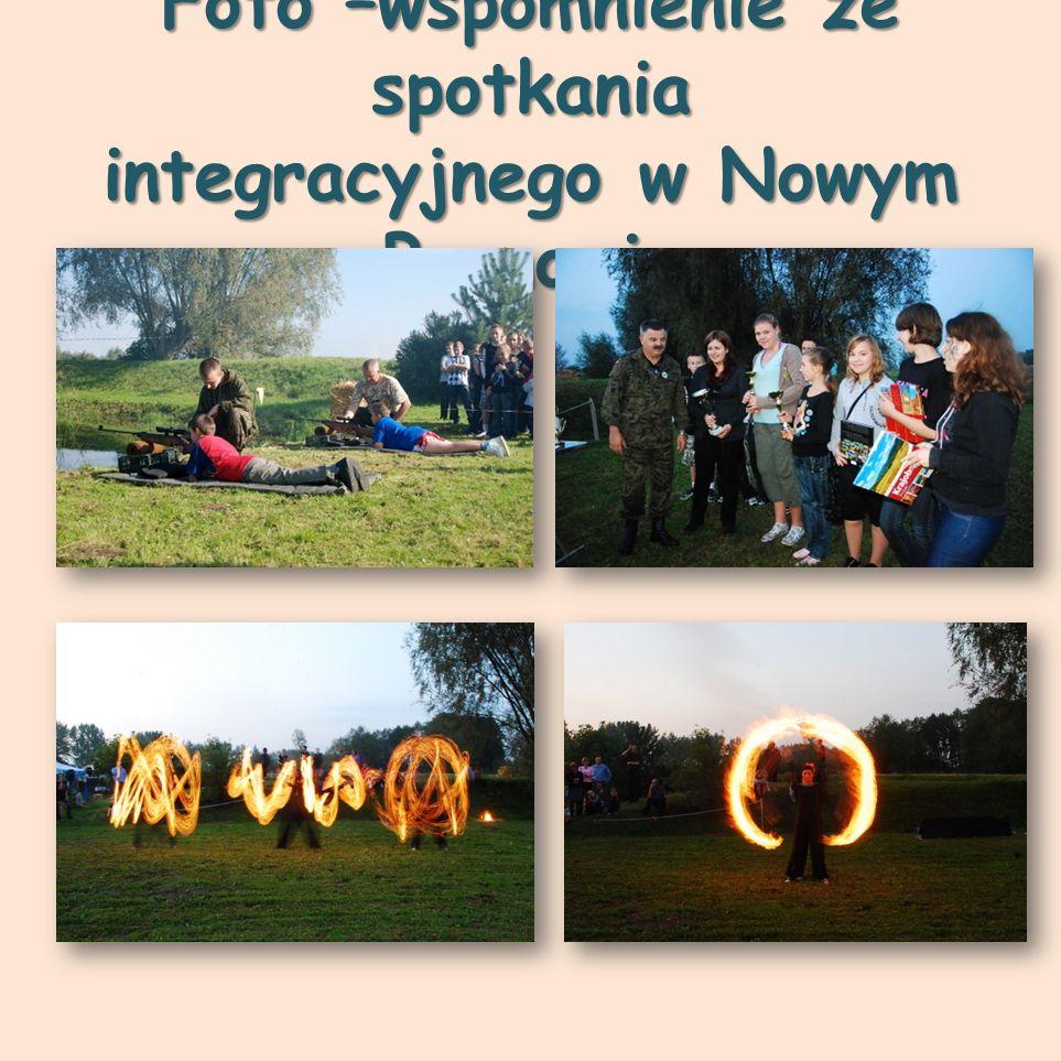 Foto –wspomnienie ze spotkania integracyjnego w Nowym Bronowie