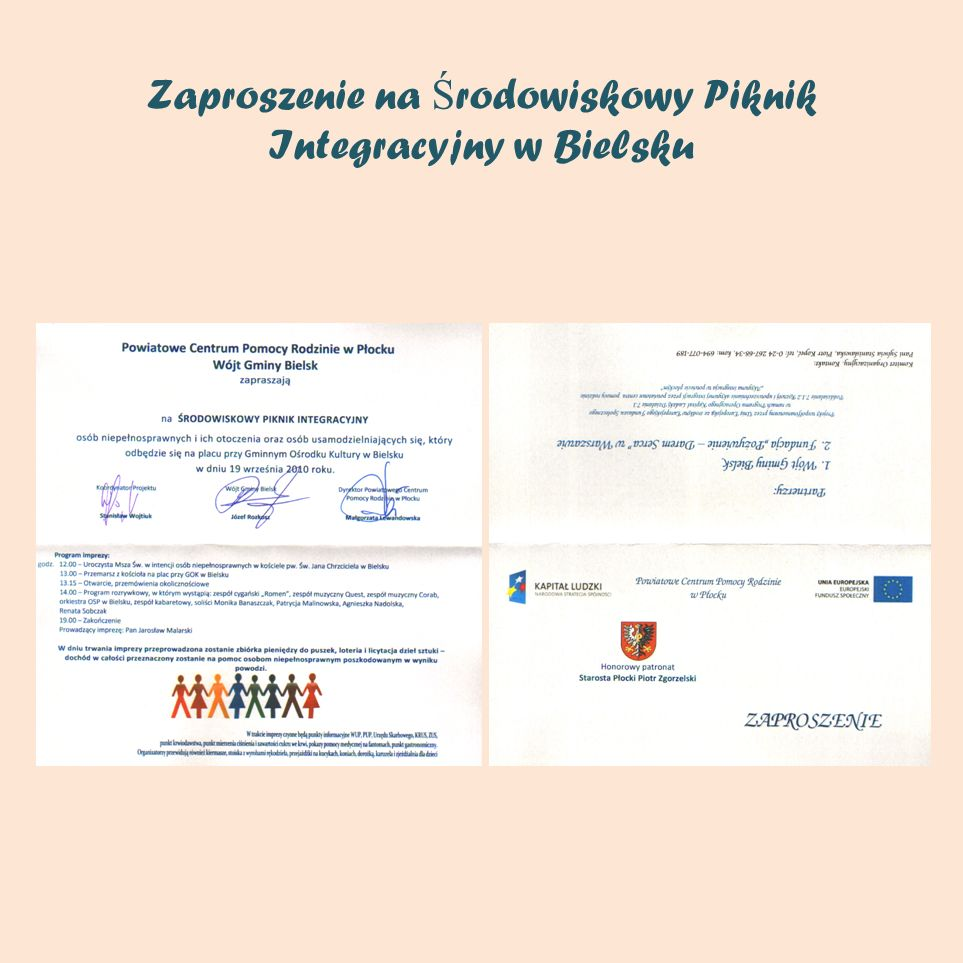 Zaproszenie na Środowiskowy Piknik Integracyjny w Bielsku