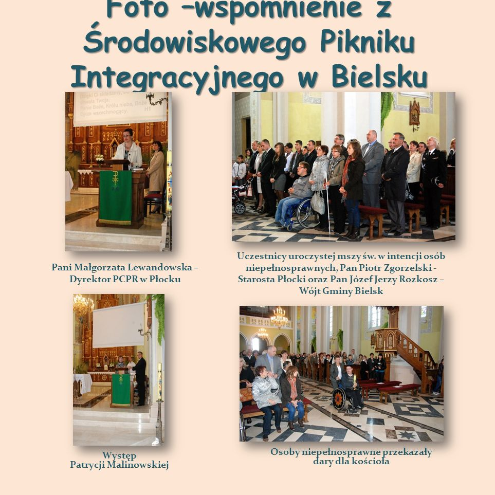 Foto –wspomnienie z Środowiskowego Pikniku Integracyjnego w Bielsku