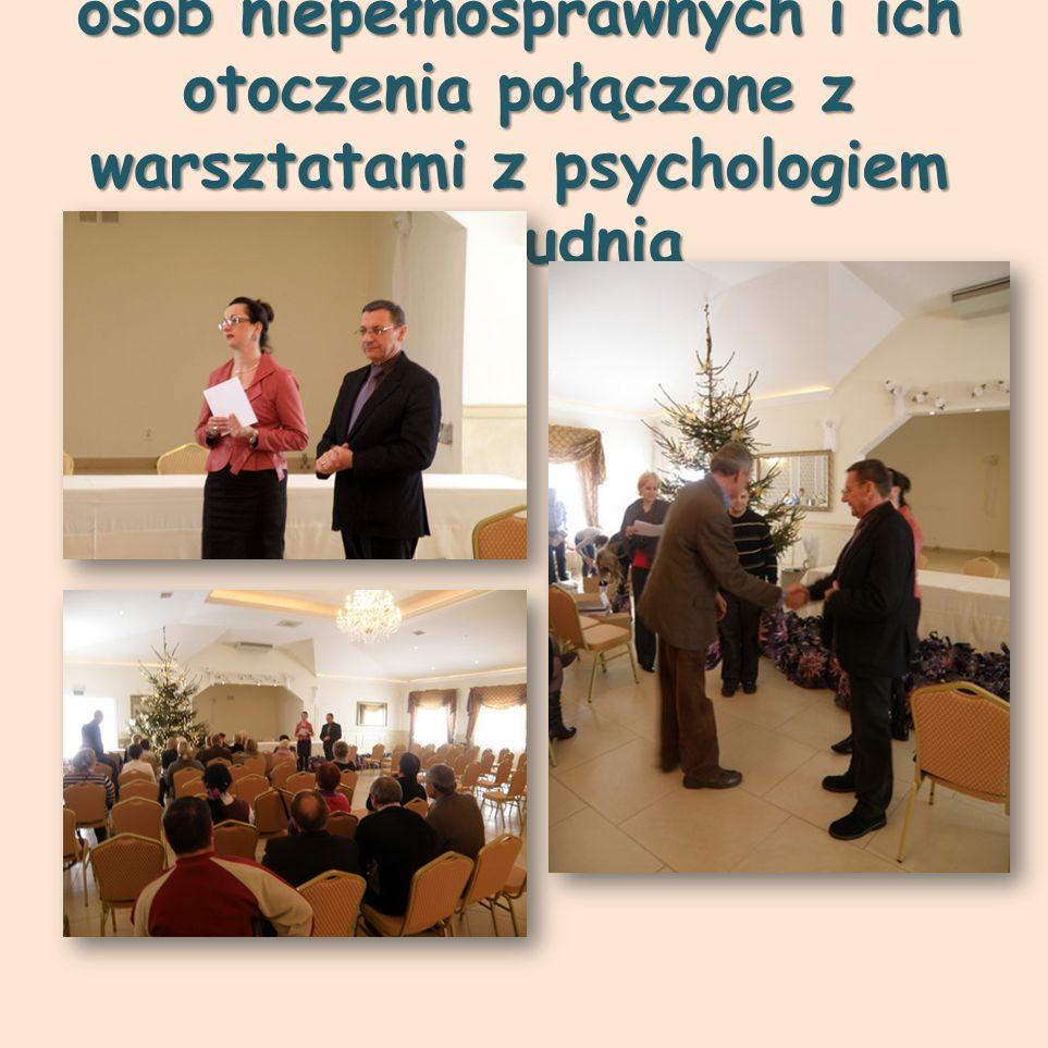 """Spotkanie """"Mikołajkowe dla osób niepełnosprawnych i ich otoczenia połączone z warsztatami z psychologiem 14 grudnia"""