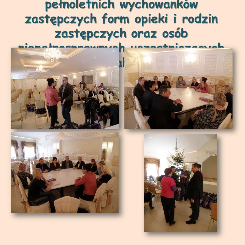 """Spotkanie """"Mikołajkowe dla pełnoletnich wychowanków zastępczych form opieki i rodzin zastępczych oraz osób niepełnosprawnych uczestniczących w ramach kontraktu – 14 grudnia"""