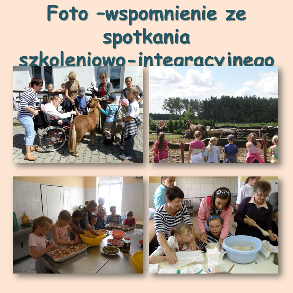 Foto –wspomnienie ze spotkania szkoleniowo-integracyjnego