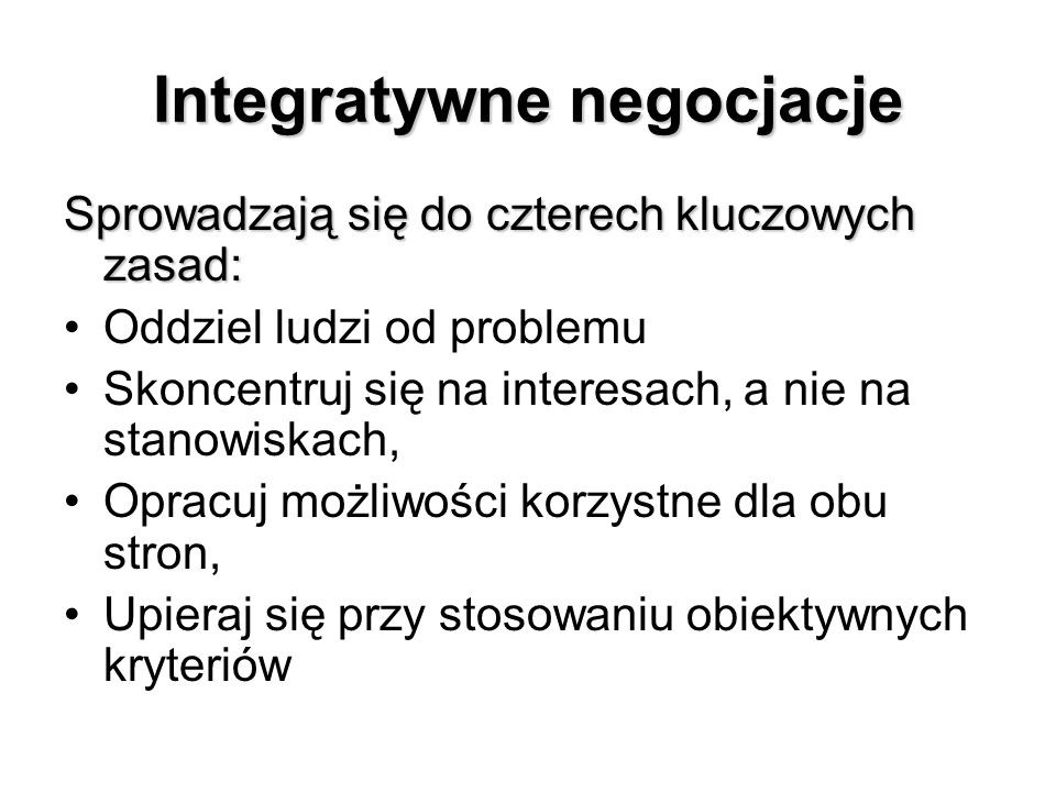 Integratywne negocjacje
