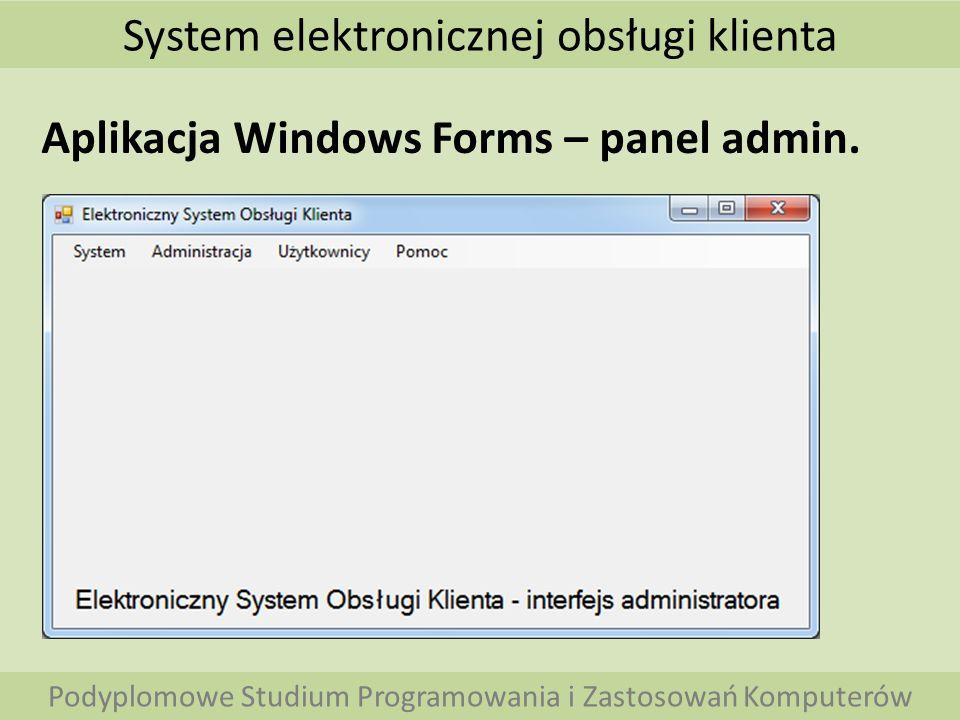 System elektronicznej obsługi klienta