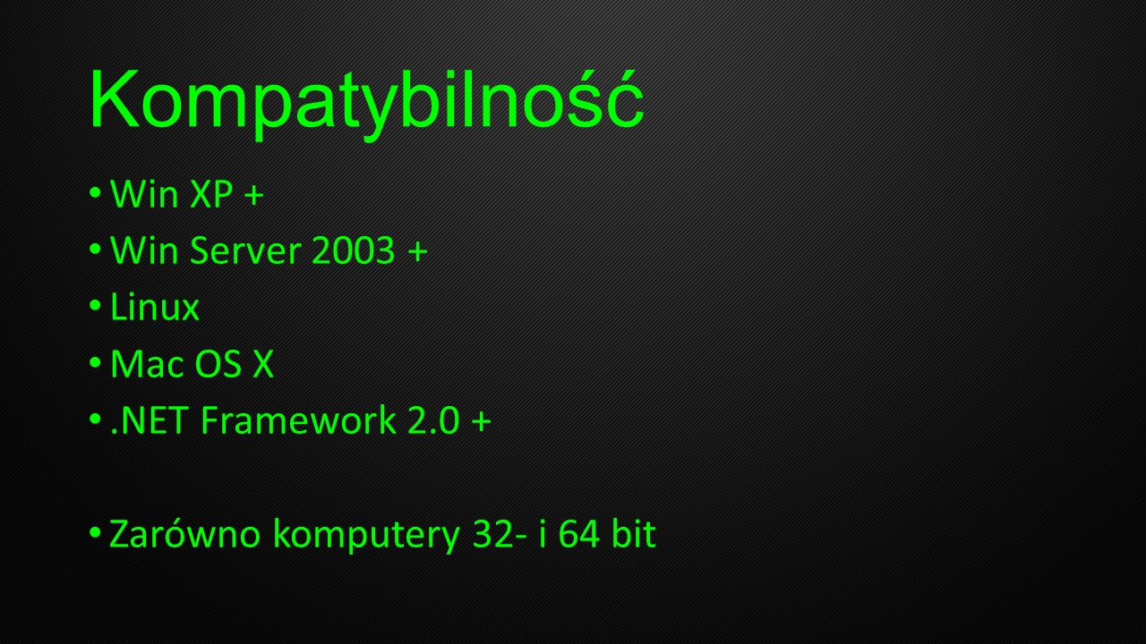Kompatybilność Win XP + Win Server 2003 + Linux Mac OS X