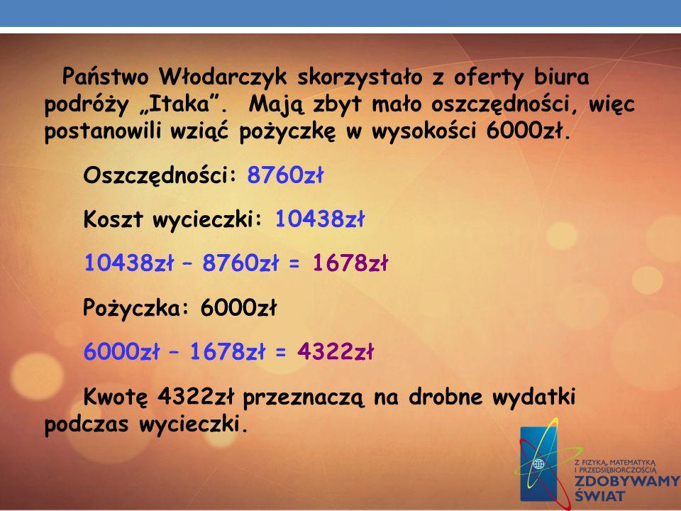"""Państwo Włodarczyk skorzystało z oferty biura podróży """"Itaka"""