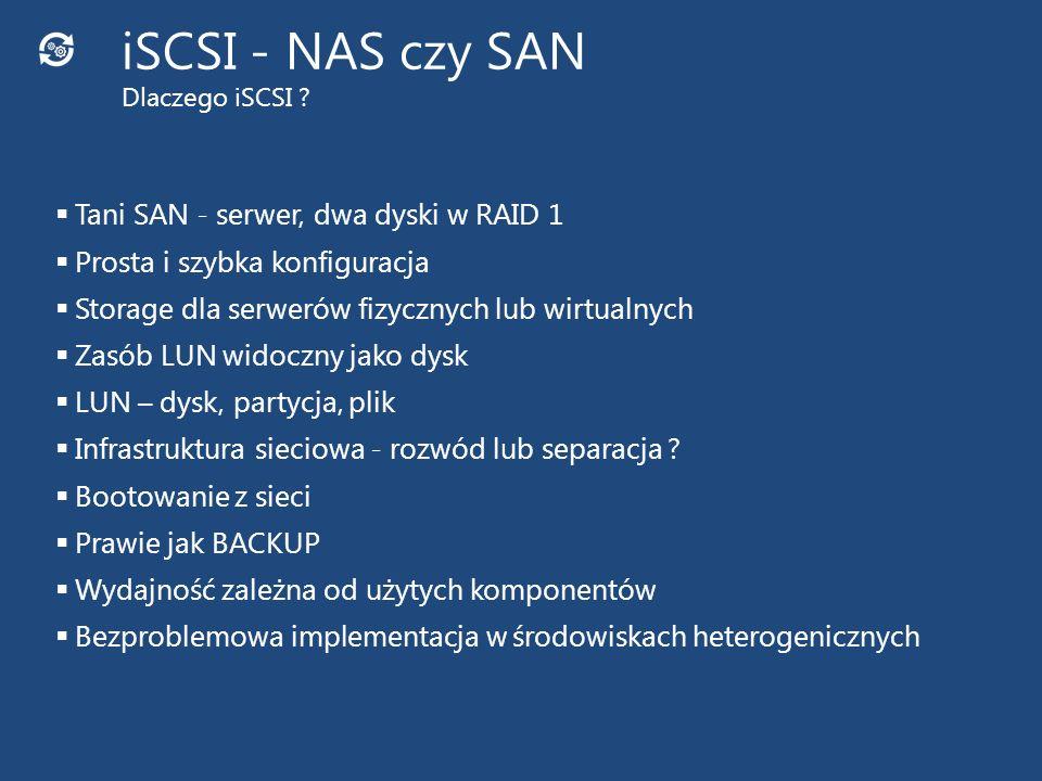 iSCSI - NAS czy SAN Dlaczego iSCSI