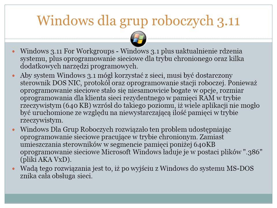 Windows dla grup roboczych 3.11