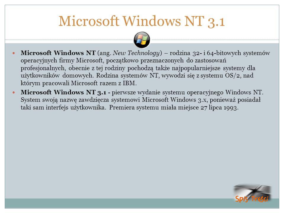 Microsoft Windows NT 3.1