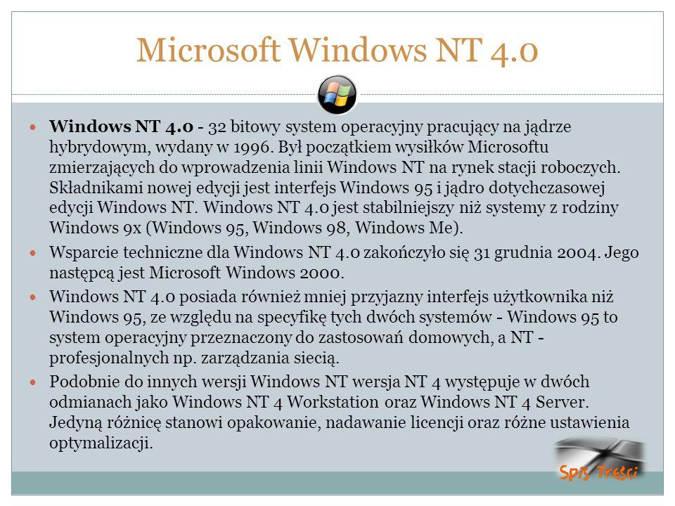 Microsoft Windows NT 4.0