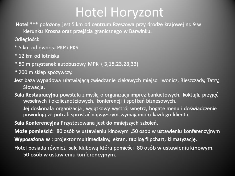 Hotel Horyzont