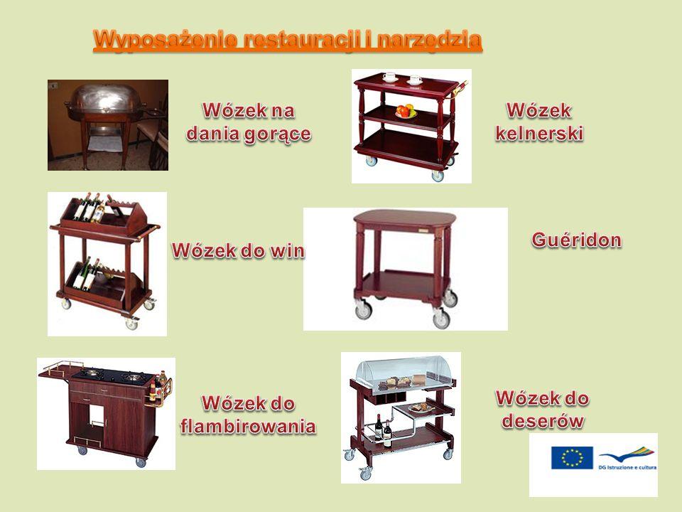 Wyposażenie restauracji i narzędzia Wózek do flambirowania