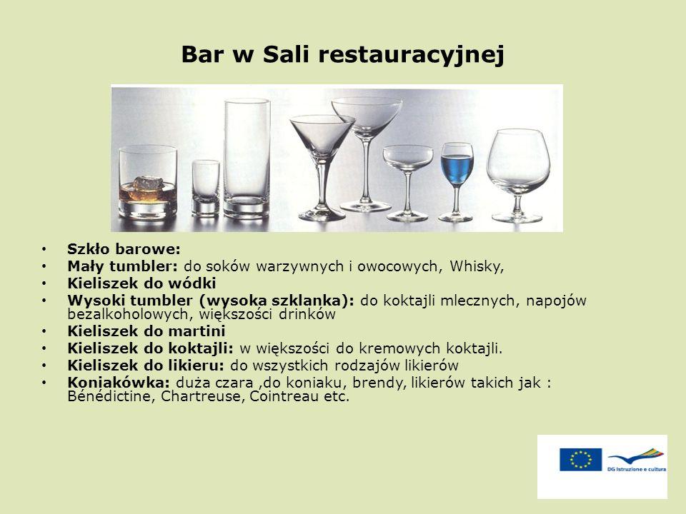 Bar w Sali restauracyjnej