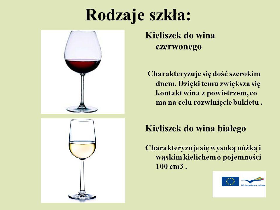 Rodzaje szkła: Kieliszek do wina czerwonego