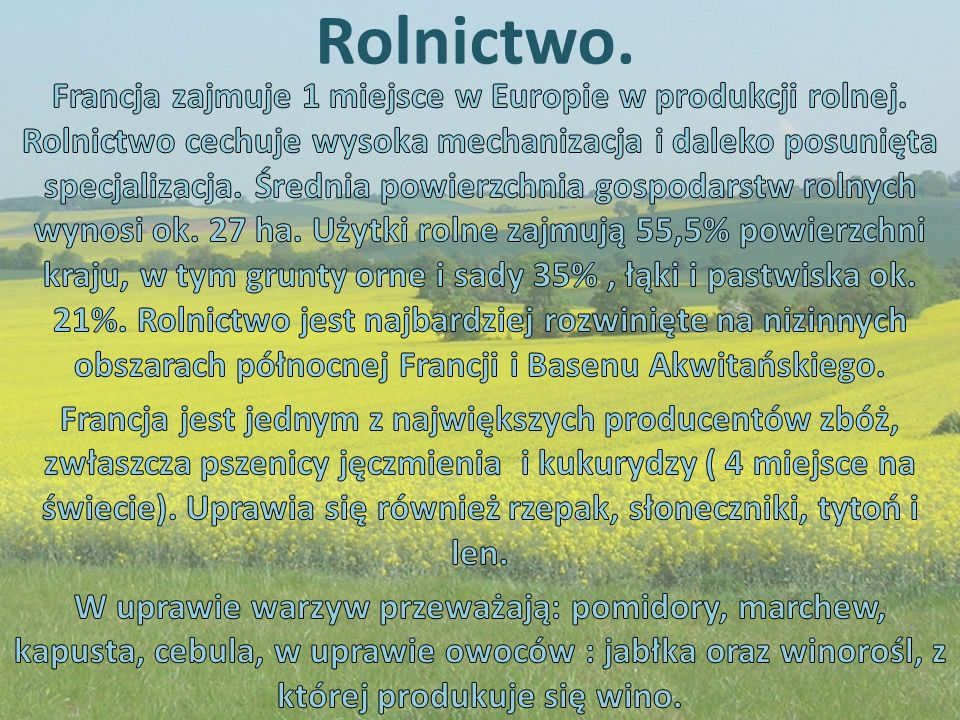 Rolnictwo.