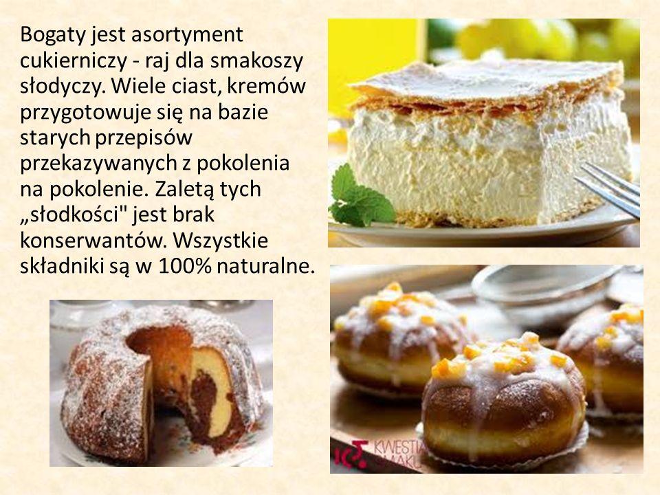 Bogaty jest asortyment cukierniczy - raj dla smakoszy słodyczy