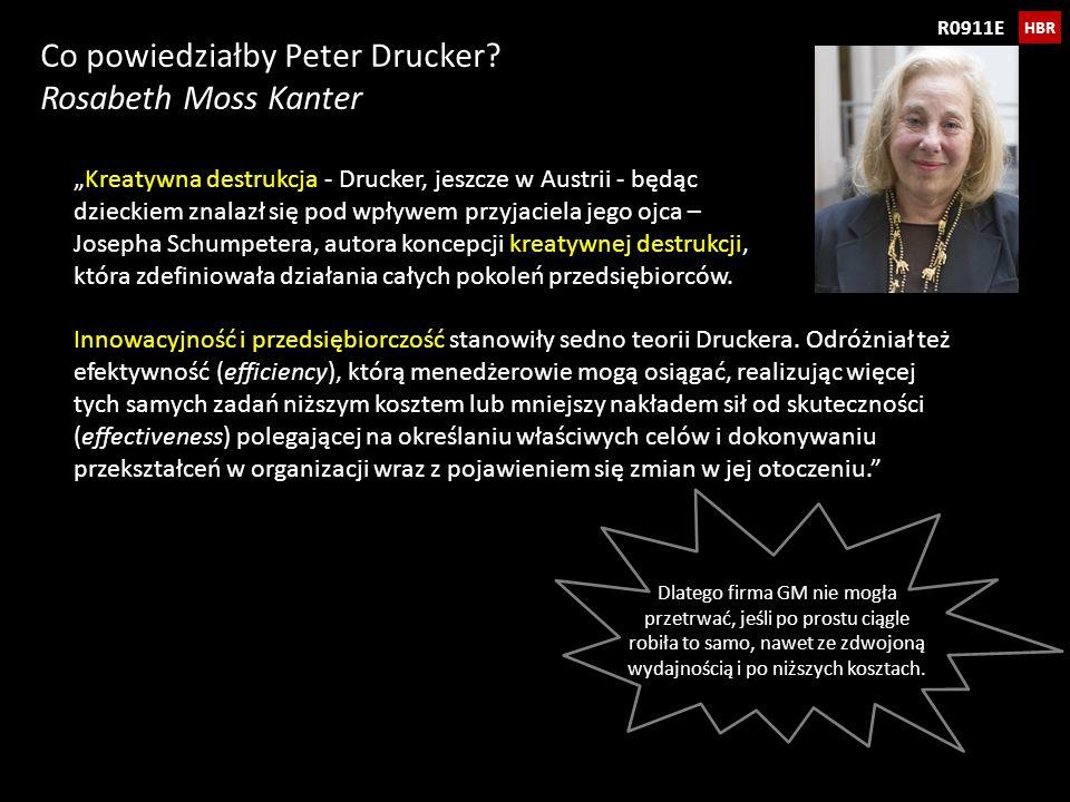 Co powiedziałby Peter Drucker Rosabeth Moss Kanter