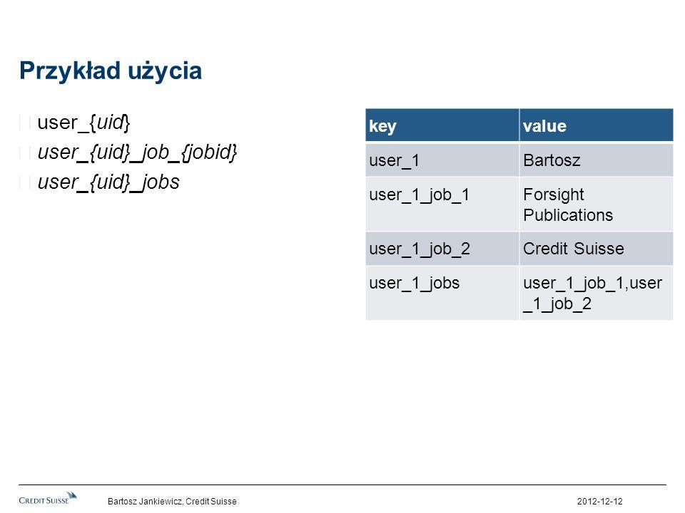 Przykład użycia user_{uid} user_{uid}_job_{jobid} user_{uid}_jobs key