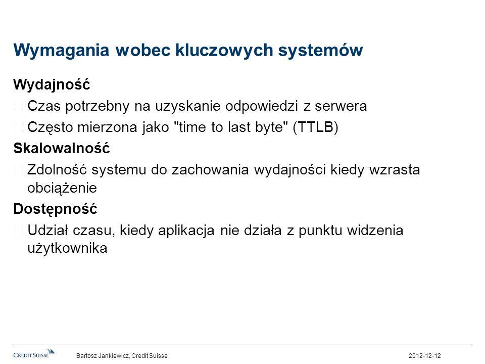 Wymagania wobec kluczowych systemów