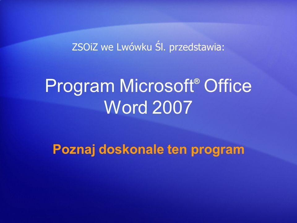 Program Microsoft® Office Word 2007