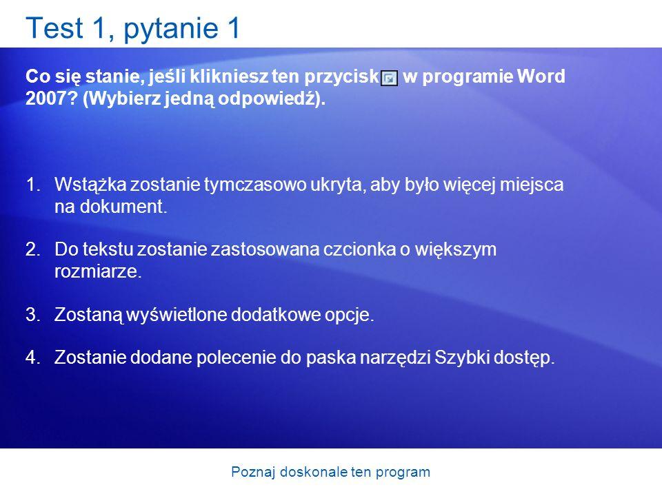 Poznaj doskonale ten program