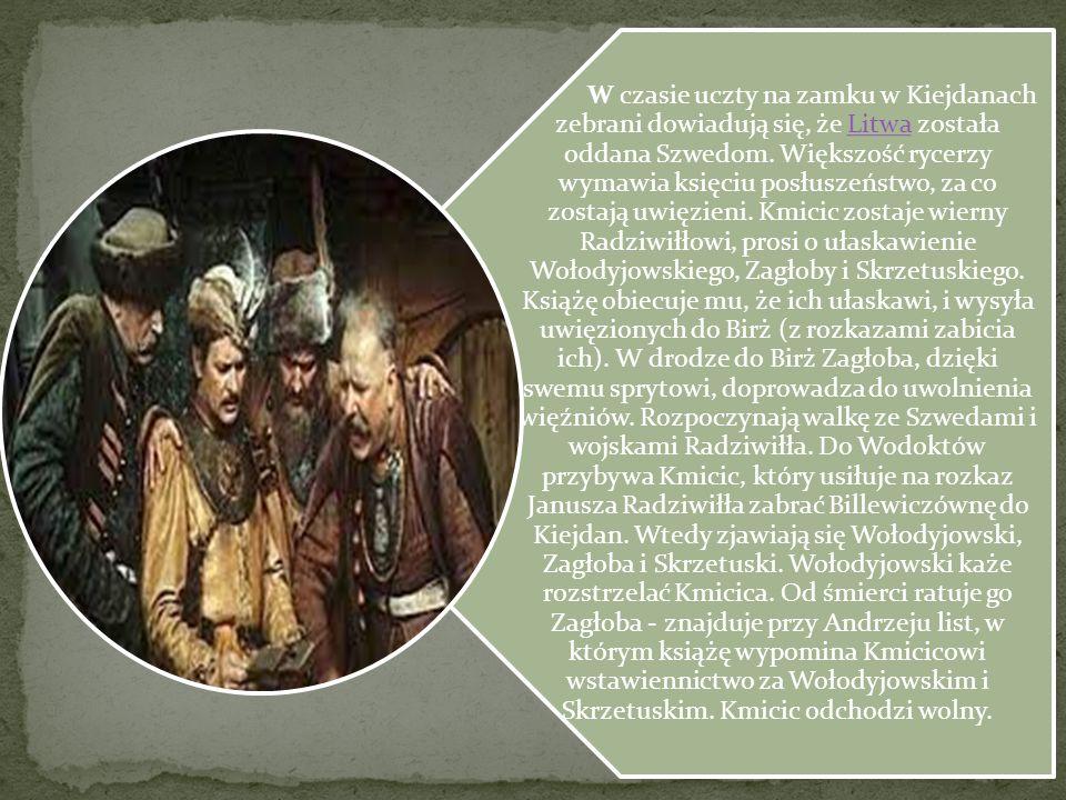W czasie uczty na zamku w Kiejdanach zebrani dowiadują się, że Litwa została oddana Szwedom.