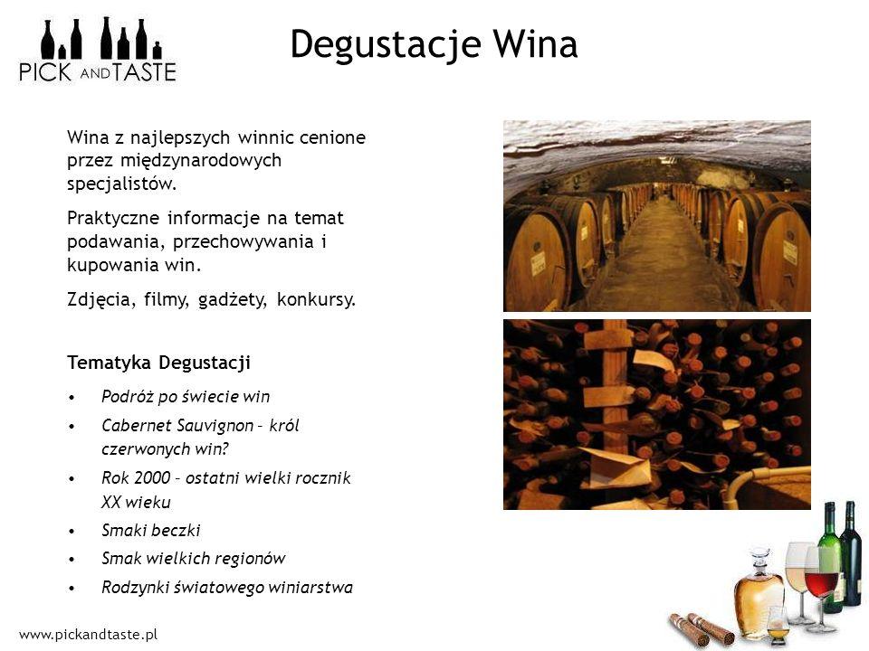 Degustacje Wina Wina z najlepszych winnic cenione przez międzynarodowych specjalistów.