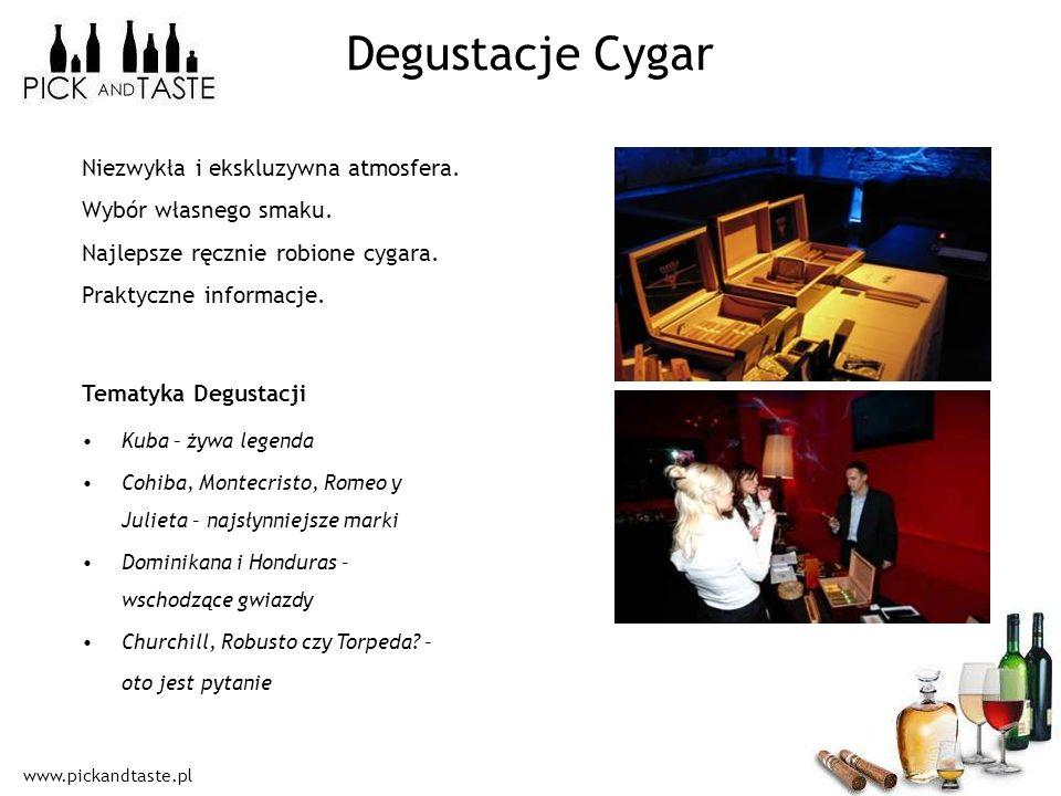 Degustacje Cygar Niezwykła i ekskluzywna atmosfera.