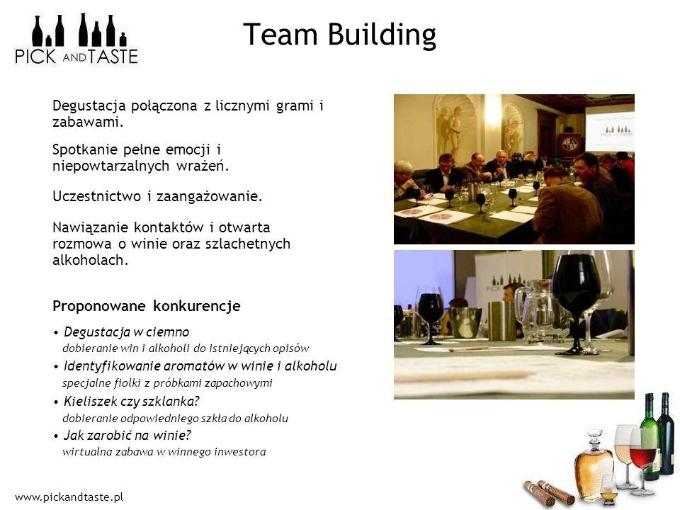 Team Building Degustacja połączona z licznymi grami i zabawami.