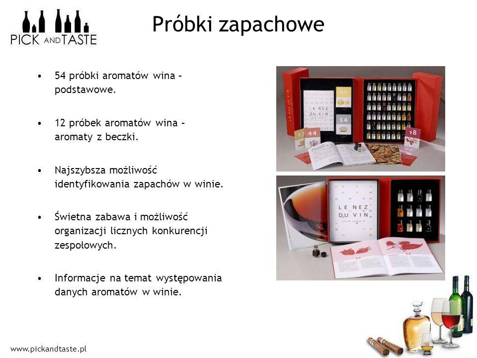 Próbki zapachowe 54 próbki aromatów wina – podstawowe.
