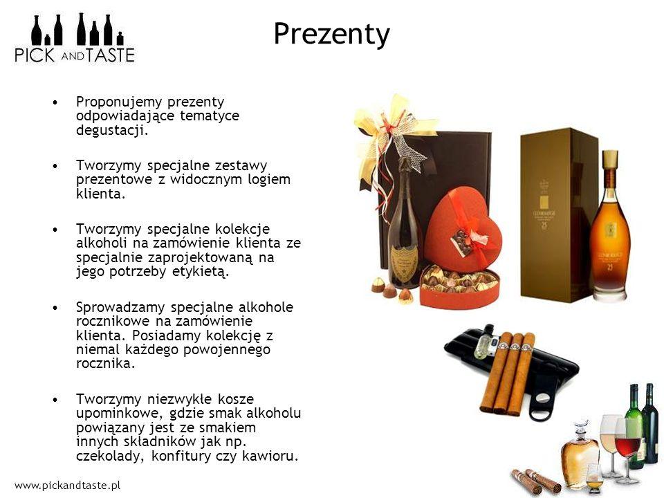 Prezenty Proponujemy prezenty odpowiadające tematyce degustacji.