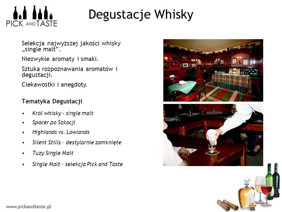 """Degustacje Whisky Selekcja najwyższej jakości whisky """"single malt ."""