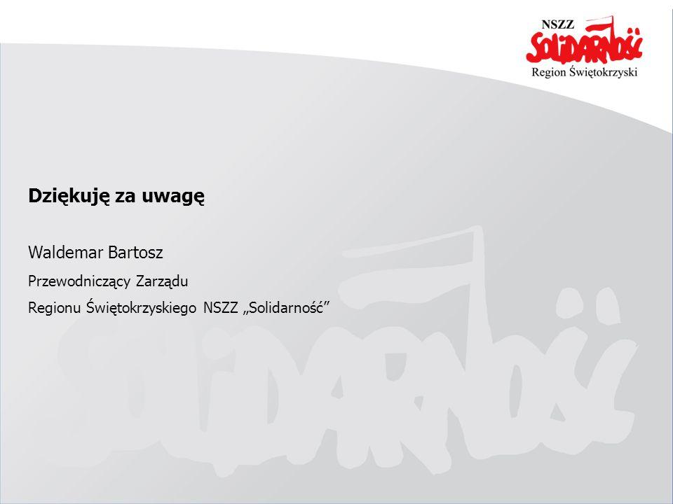 Dziękuję za uwagę Waldemar Bartosz Przewodniczący Zarządu