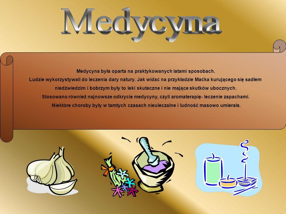 Medycyna była oparta na praktykowanych latami sposobach.