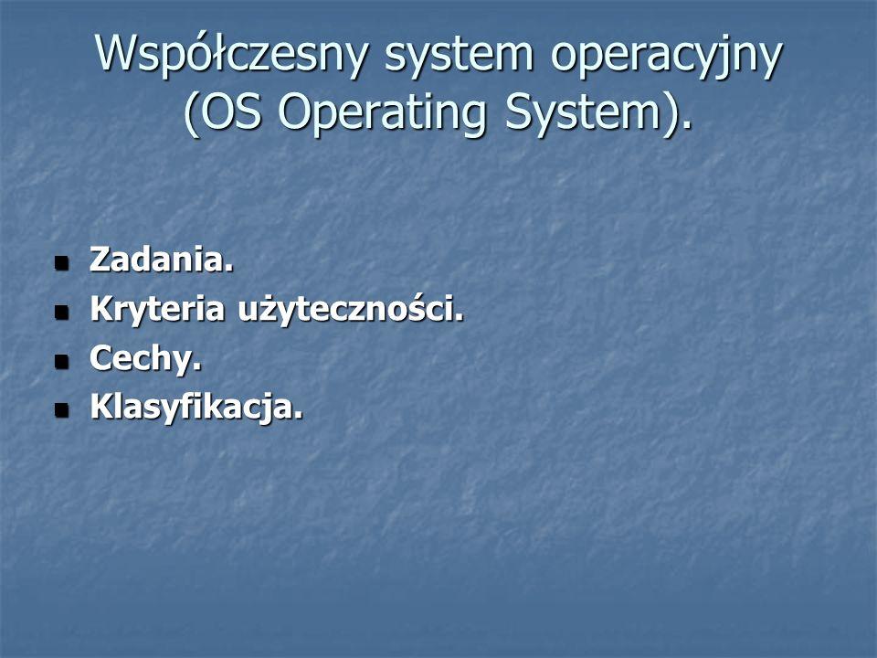 Współczesny system operacyjny (OS Operating System).