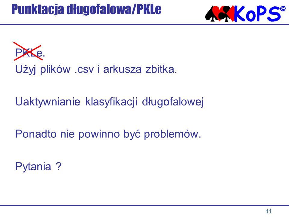 Punktacja długofalowa/PKLe