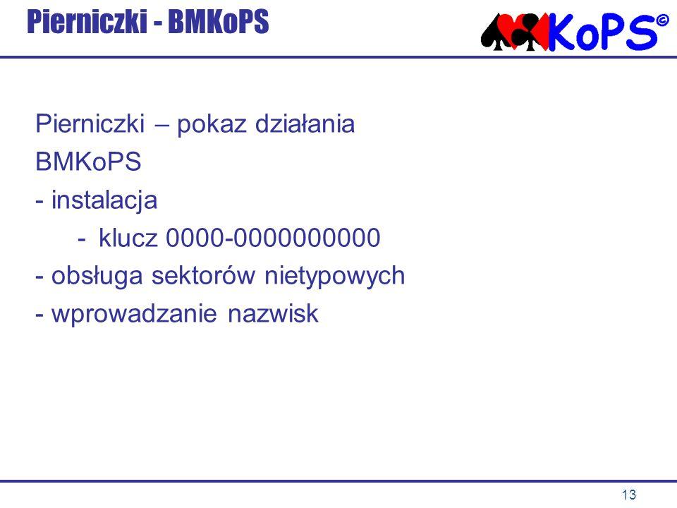 Pierniczki - BMKoPS Pierniczki – pokaz działania BMKoPS - instalacja