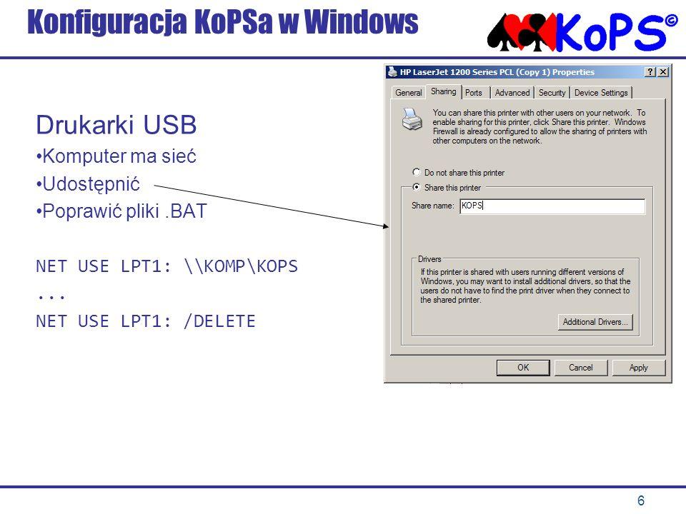 Konfiguracja KoPSa w Windows
