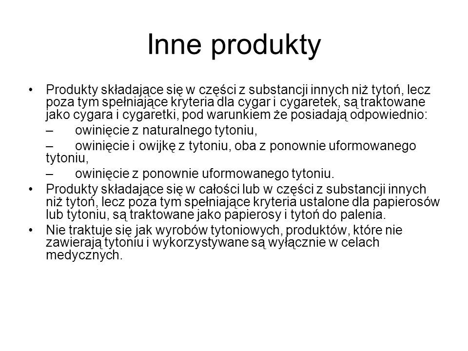 Inne produkty