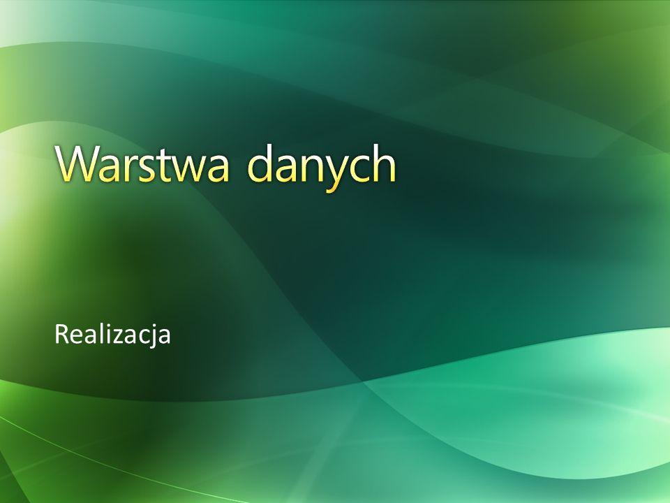 Warstwa danych Realizacja Trusted Database Connections