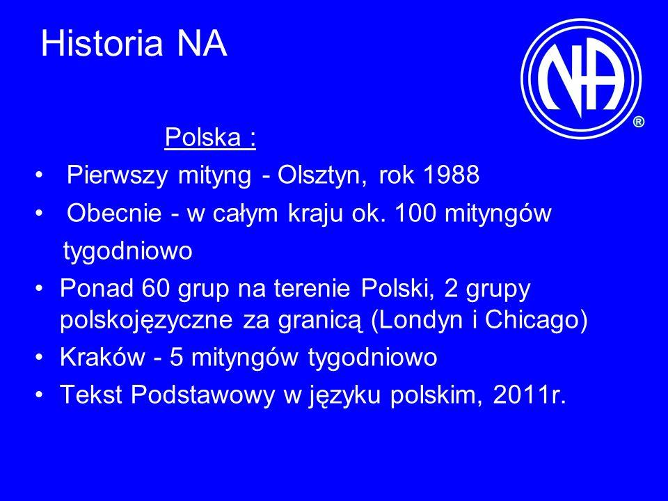 Historia NA Polska : Pierwszy mityng - Olsztyn, rok 1988