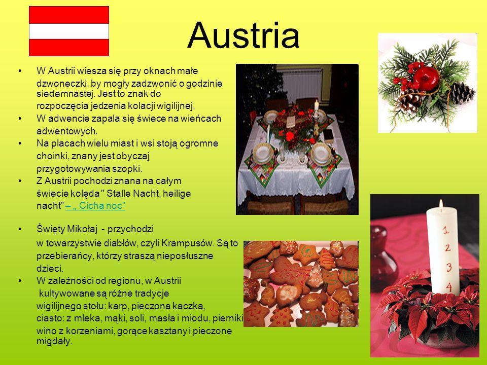 Austria W Austrii wiesza się przy oknach małe