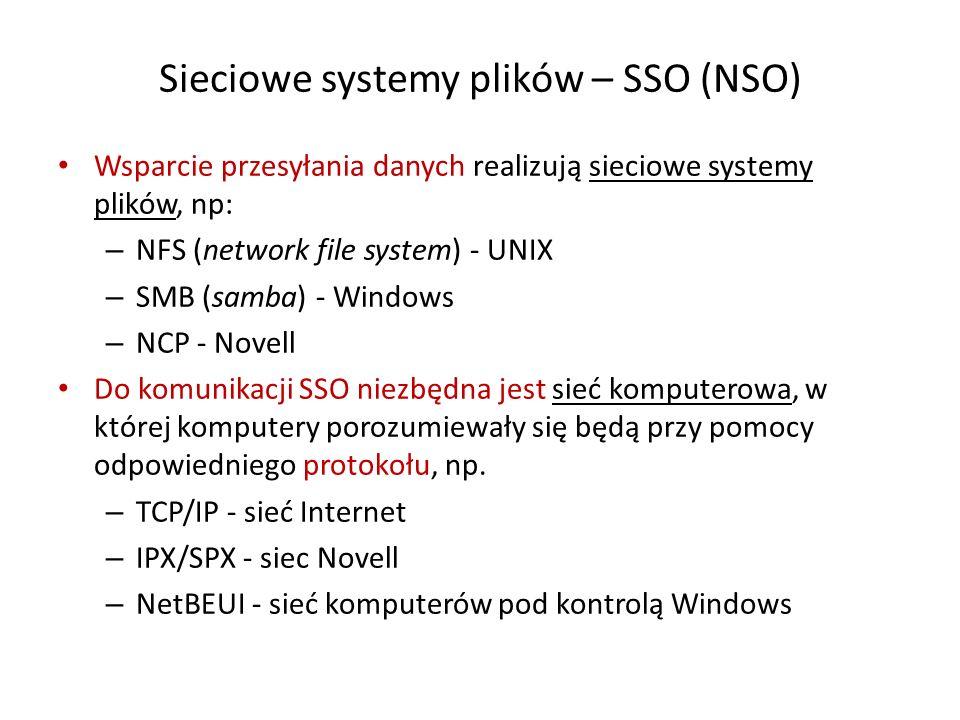 Sieciowe systemy plików – SSO (NSO)