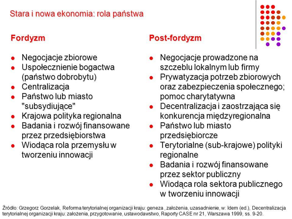 Stara i nowa ekonomia: rola państwa