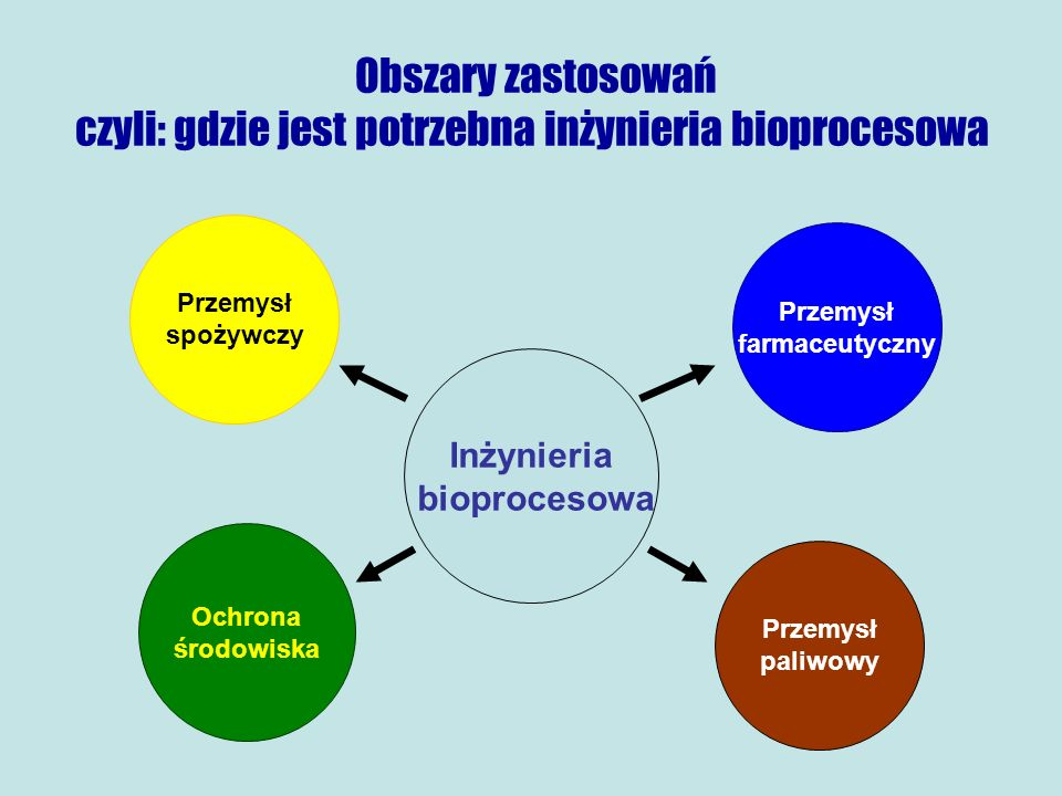 Obszary zastosowań czyli: gdzie jest potrzebna inżynieria bioprocesowa