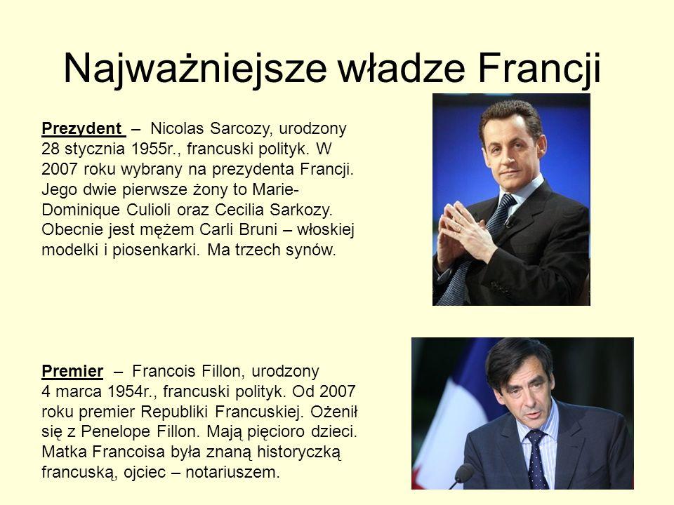Najważniejsze władze Francji
