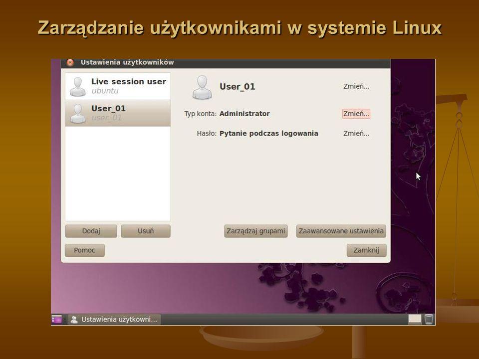 Zarządzanie użytkownikami w systemie Linux