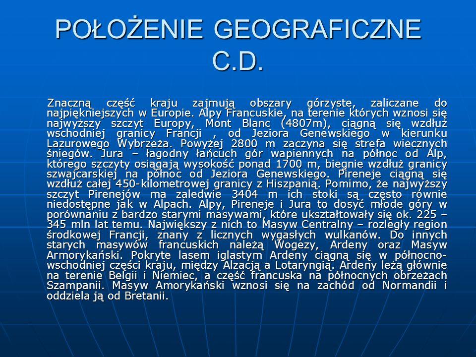 POŁOŻENIE GEOGRAFICZNE C.D.