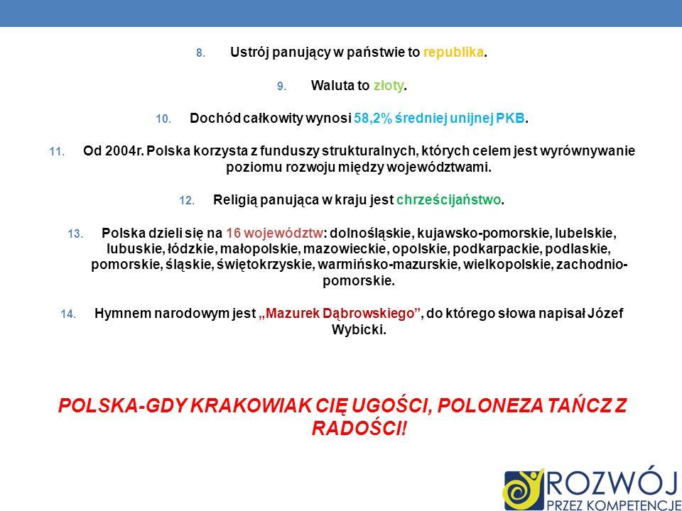 POLSKA-GDY KRAKOWIAK CIĘ UGOŚCI, POLONEZA TAŃCZ Z RADOŚCI!