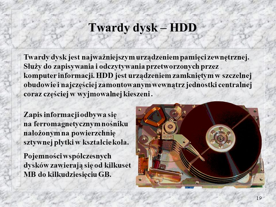 Twardy dysk – HDD